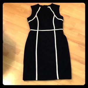 Calvin Klein fitted work dress